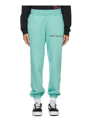 Awake NY blue classic outline logo lounge pants