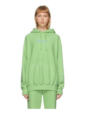 Awake NY green embroidered logo hoodie
