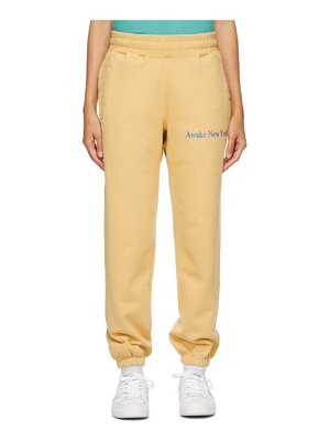 Awake NY yellow classic outline logo lounge pants