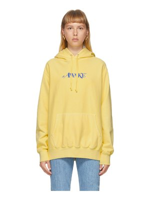 Awake NY yellow embroidered logo hoodie