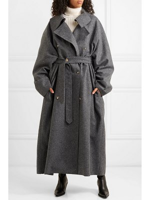 A.W.A.K.E. oversized double-breasted wool-blend felt coat