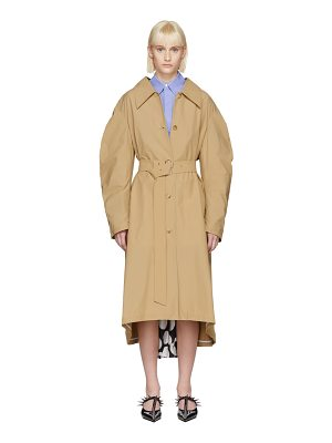 A.W.A.K.E. Polka Dot Pleat Trench Coat