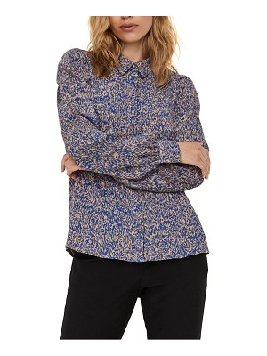 AWARE BY VERO MODA madeline print long sleeve blouse