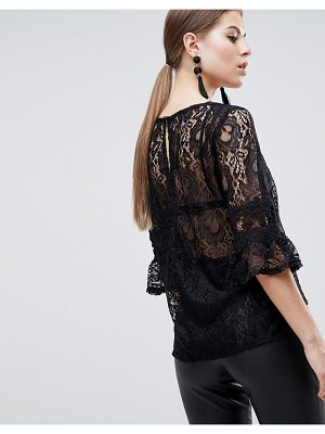 AX Paris 3/4 Sleeve Lace Top
