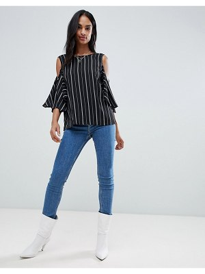 AX Paris cold shoulder striped top