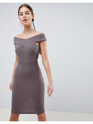 AX Paris Cross Front Pencil Midi Dress