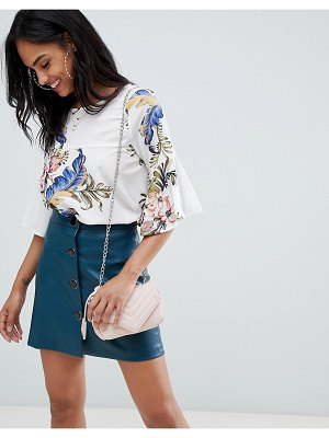 AX Paris floral 3/4 sleeve top