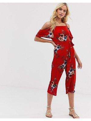 AX Paris floral cold shoulder jumpsuit-multi