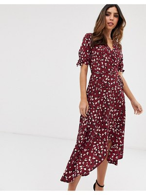 AX Paris floral midi wrap dress-purple