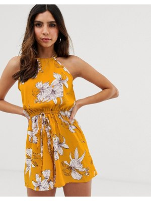 AX Paris floral print romper-yellow