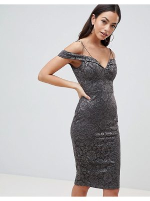 AX Paris Lace Pencil Dress With Sleeve
