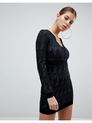 AX Paris Long Sleeve Lace Dress