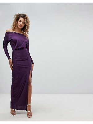 AX Paris long sleeve maxi dress with side split