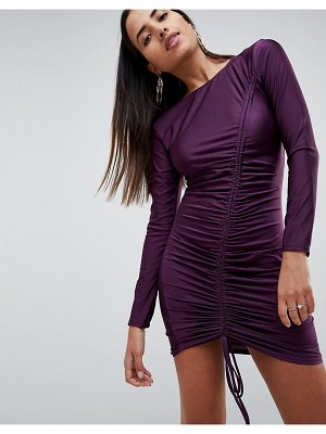AX Paris Long Sleeve Ruched Mini Dress