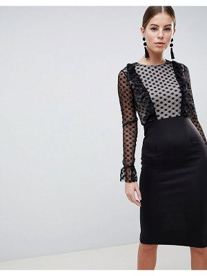 AX Paris Mesh Polka Midi Dress