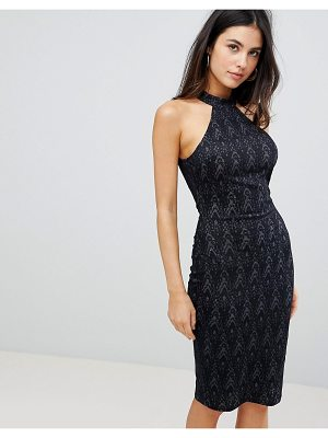 AX Paris racerneck lace print midi dress