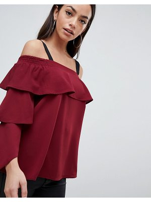 AX Paris Ruffle Bardot Top