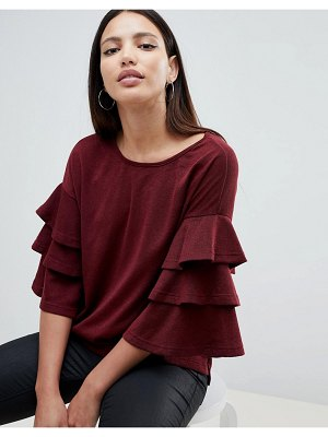 AX Paris sweater with frill sleeve detail