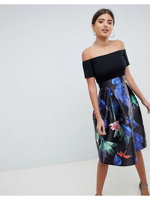 AX Paris Two In One Floral Skater Midi Dress