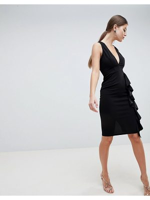 AX Paris V Neck Fitted Pencil Dress
