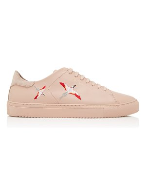 Axel Arigato clean 90 bird-embroidered leather sneakers