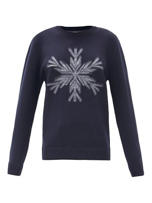 Aztech Mountain snowflake-intarsia wool sweater