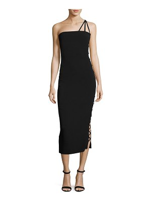 AZZARO Alpha One-Shoulder Midi Cocktail Dress