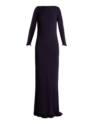 AZZARO ava crystal-embellished jersey gown