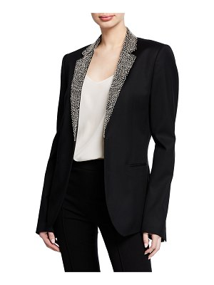 AZZARO Embroidered-Lapel Wool Jacket
