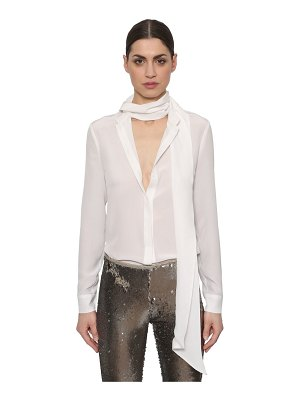 AZZARO Silk crepe de chine bow blouse