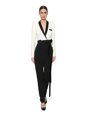 AZZARO Stretch crepe viscose jumpsuit