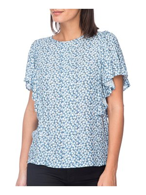B Collection by Bobeau Acacia Flutter Sleeve Top