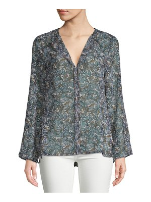 B Collection by Bobeau Christy Printed Hi-Lo Blouse