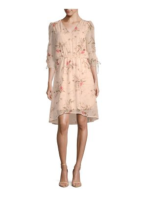 B Collection by Bobeau Ember Ruched Sleeve Floral Dress