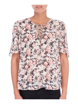 B Collection by Bobeau Floral-Print Top