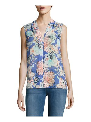 B Collection by Bobeau Floral V-Neck Top