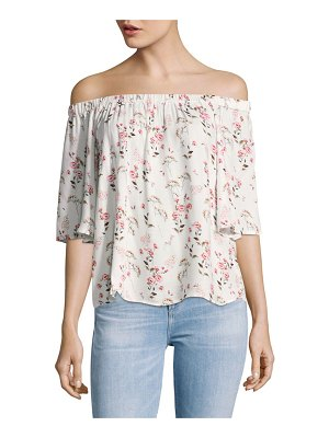 B Collection by Bobeau Parker Floral Off-The-Shoulder Top