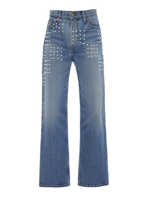 B SIDES arts embroidered mid-rise straight-leg jeans