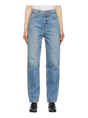B SIDES blue claude high taper jeans