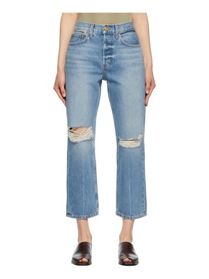 B SIDES blue marcel relaxed straight jeans