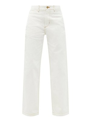 B SIDES cinch belted high-rise wide-leg jeans