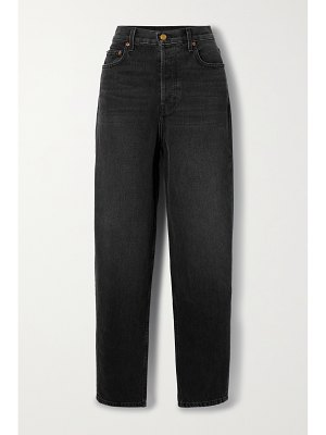 B SIDES claude patchworked high-rise tapered jeans