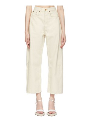 B SIDES off-white lasso jeans