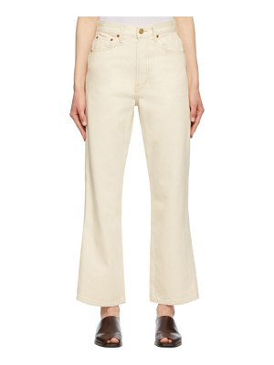B SIDES off-white plein relaxed straight jeans