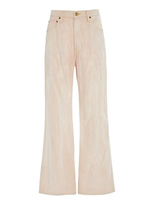 B SIDES plein high-rise straight-leg watercolor jeans size: 25