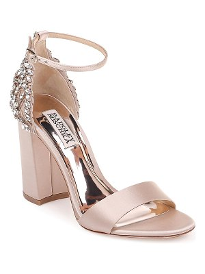 Badgley Mischka Ainsley Crystal Embellished Satin Sandals