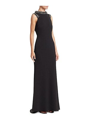 Badgley Mischka beaded neckline gown