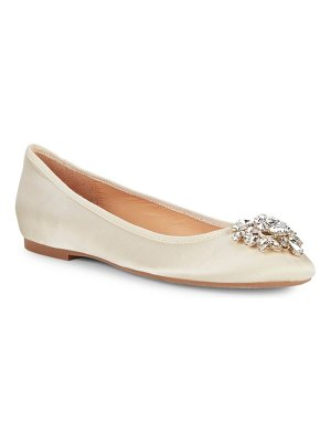 Badgley Mischka Bianca Embellished Slip-On Ballet Flats