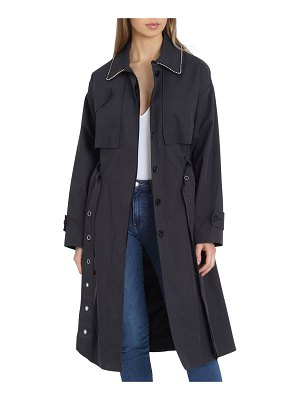 Badgley Mischka Brooke Cotton Utility Trench Coat