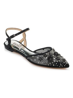 Badgley Mischka Collection carissa embroidered pointed toe flat